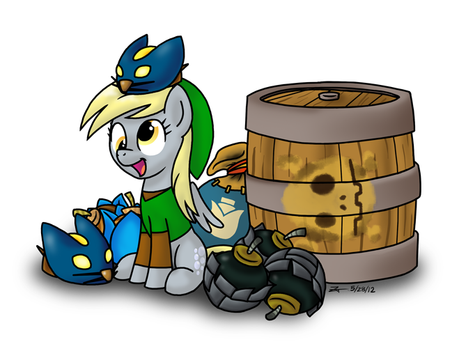 Derpy Link With Explosive Items