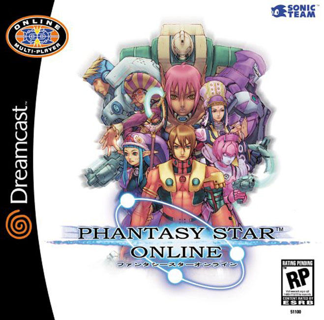 Phantasy Star Online For Dreamcast
