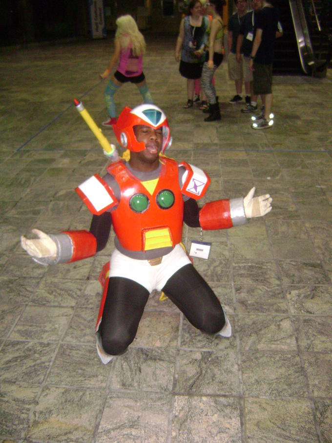 Zero Cosplayer mourning the loss