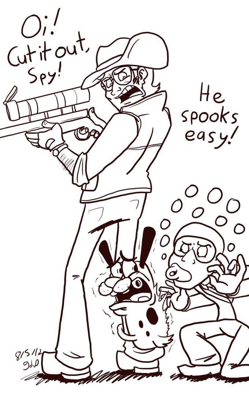 He spooks easily
