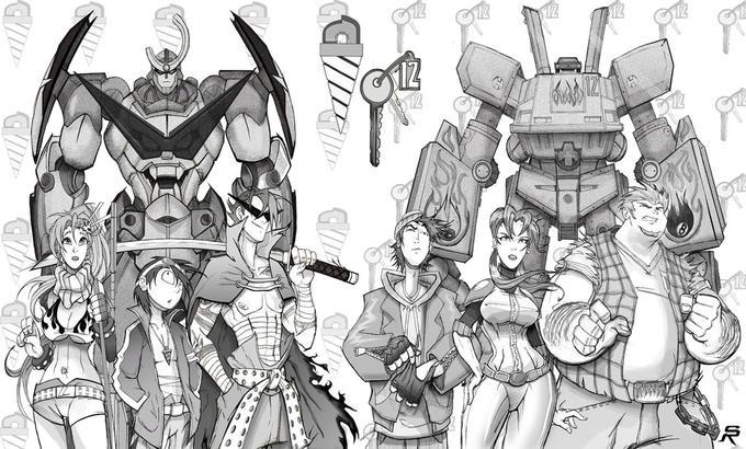 Team Gurren Team Megas