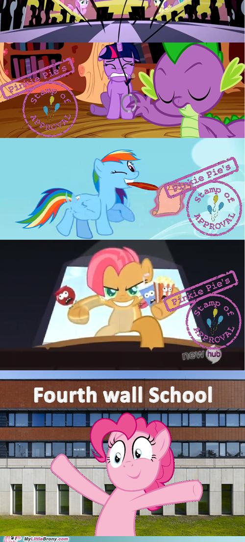 Fourth wall school
