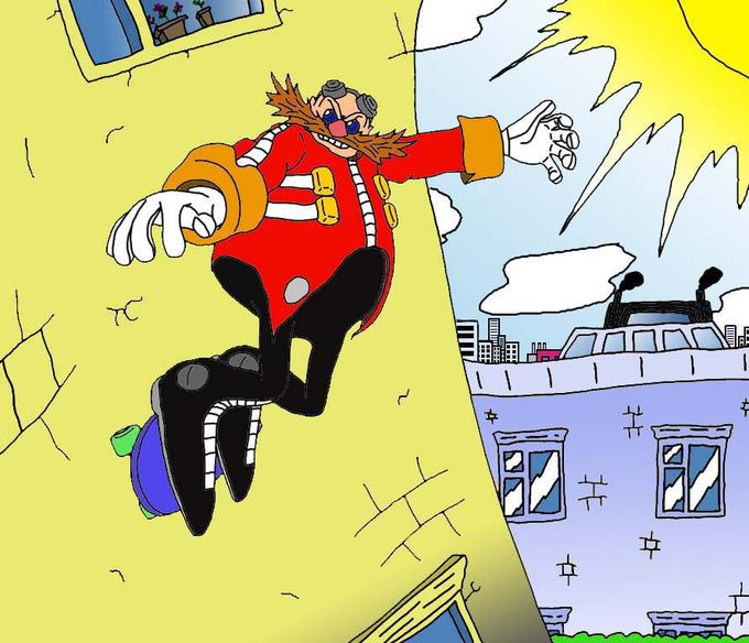 Eggman escapes from the city