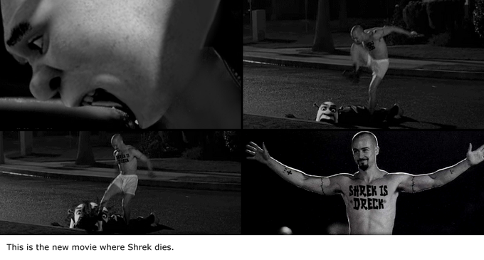 This is the new movie where Shrek dies.