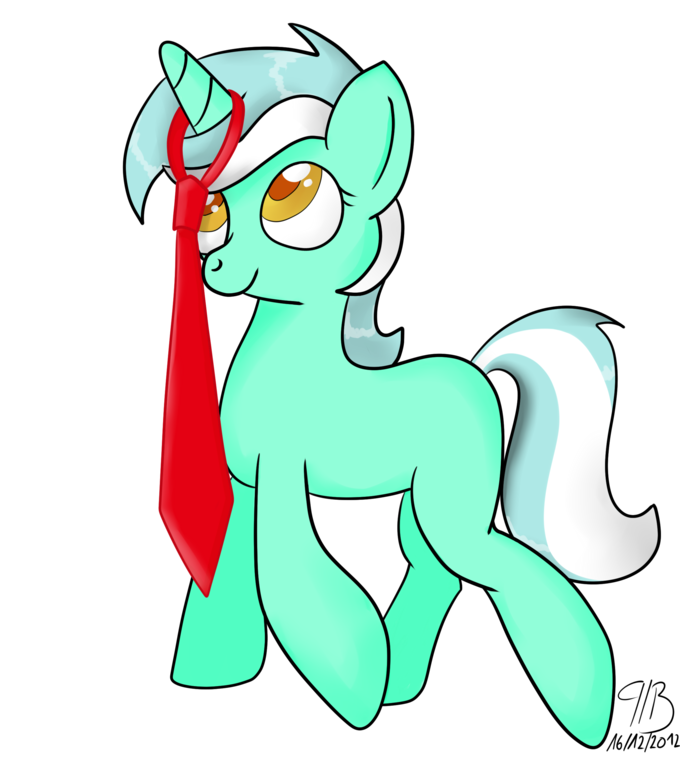 Lyra and her new tie