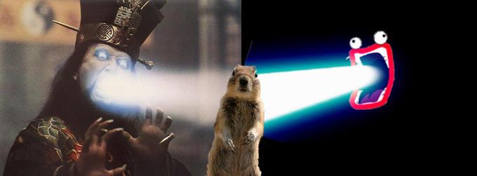 Lopan and Shoop Da Whoop vs squirrel