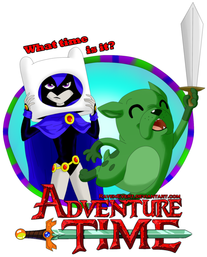 Raven and Beast Boy Adventure Time