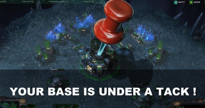 Base under a tack