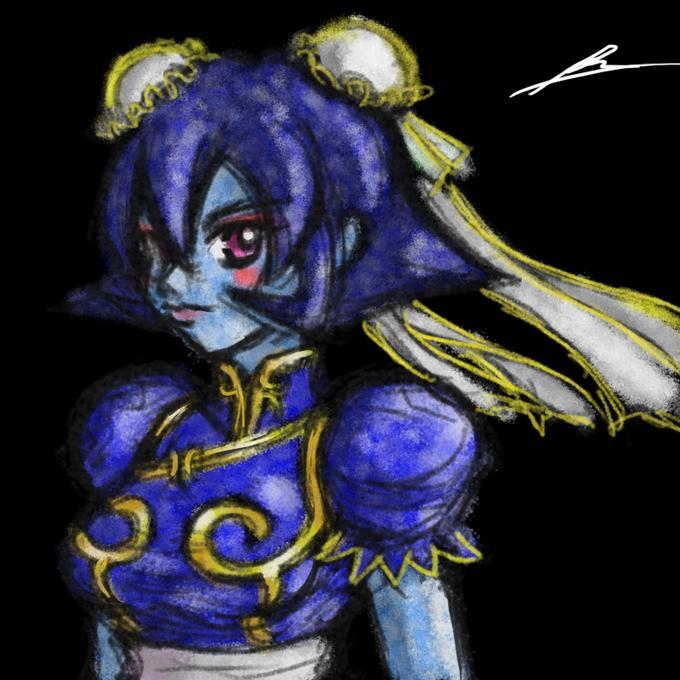Lei Lei cosplays Chun-li