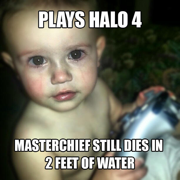 Crying Gamer Baby - Master Chief Dies in Water