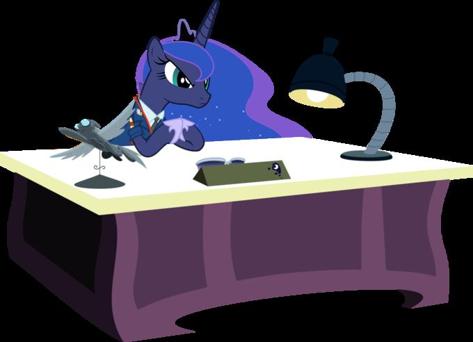 Princess Luna At Her Desk