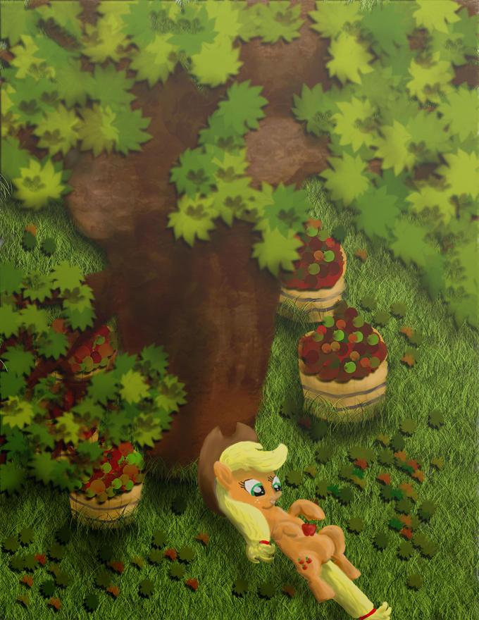Break Time on Apple Acres