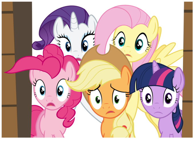 Five worried ponies