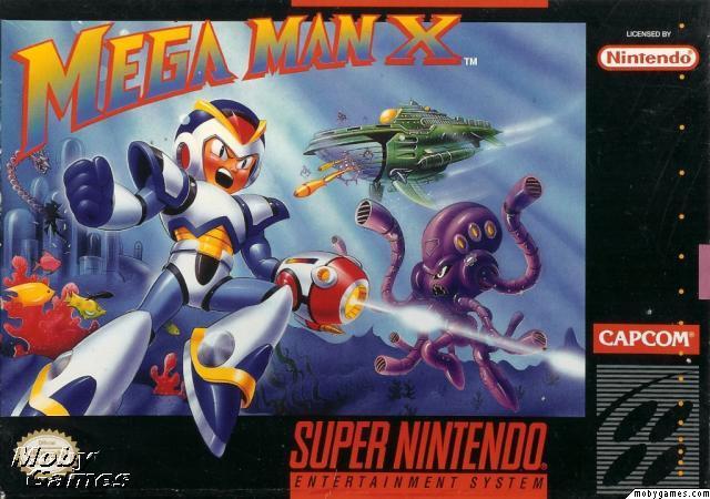 Mega Man X box artwork