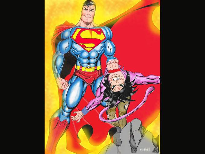 Superman defeats Goku