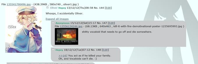 Mikuchan thread about Oliver