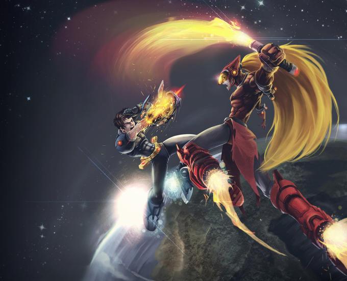 Megaman vs. Zero by kofab