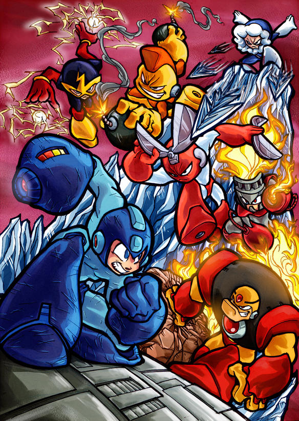 Mega Man and his foes