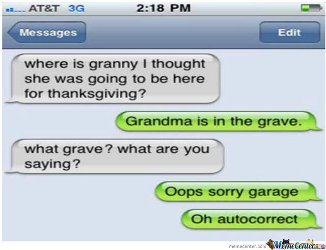Grandma is dead.