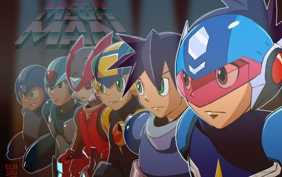 All Mega Man main heroes