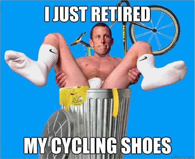 Trashed Lance Armstrong