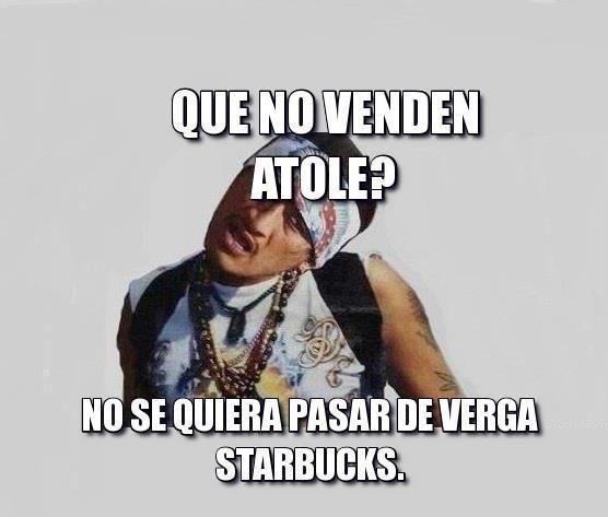 Atole en Starbucks