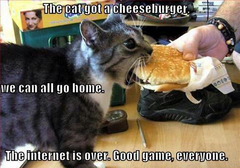Pack up, everyone.  Wait nevermind, it's just a hamburger.