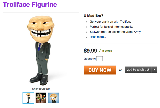 Trollface Figurine