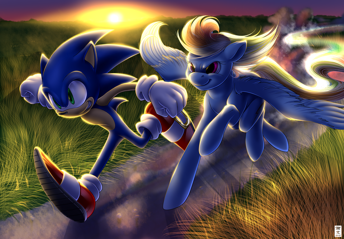 Sonic vs Rainbow Dash