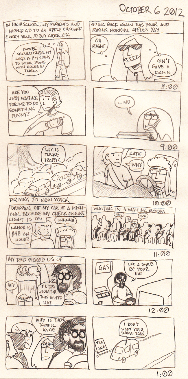 Awkward Zombie - 10/8/12 (part 1)