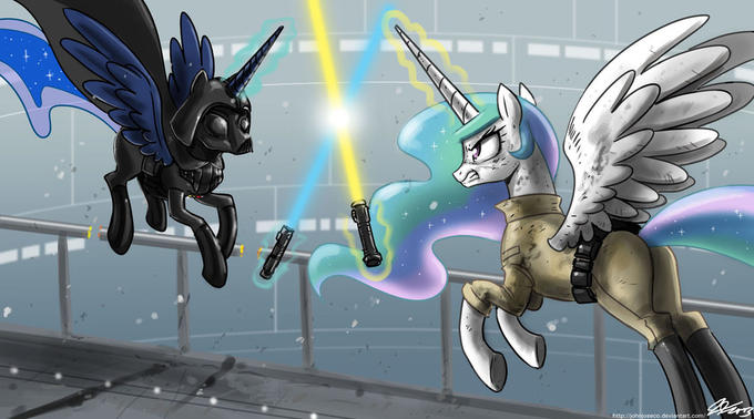 The force is with you Celestia, but you are not a queen yet...