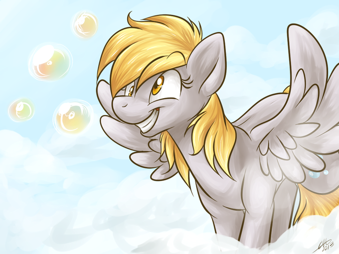 Bubbly little Pegasus