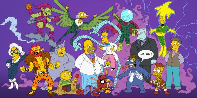 The Simpsons as Spider-Man Characters