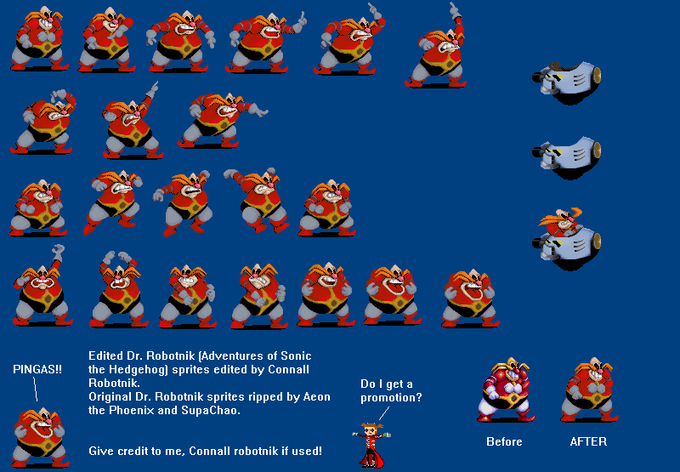 Edited Robotnik Sprite by ConnallRobotnik8