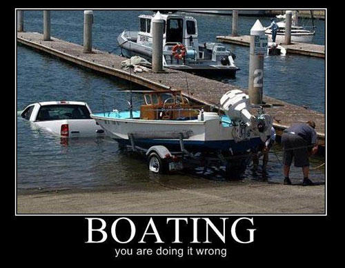 boating you're doing it wrong