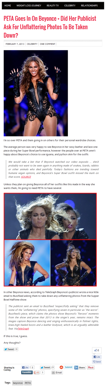 PETA Goes In On Beyonce
