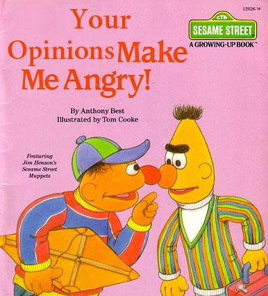 Your Opinions Make Me Angry!