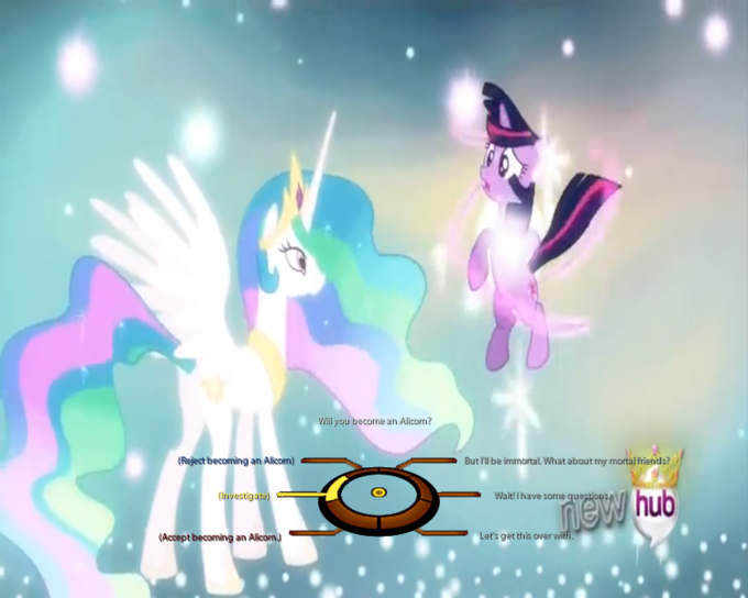 If Twilight Sparkle had choice to become an Alicorn or not.