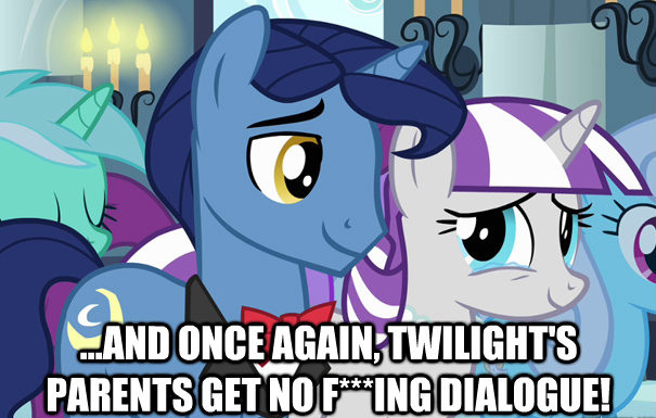 ...and once again, Twilight's parents get no f***ing dialogue!