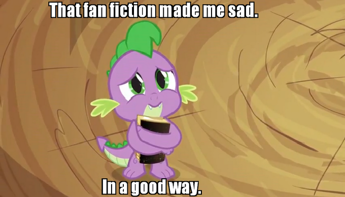 That fan fiction made me sad. In a good way.