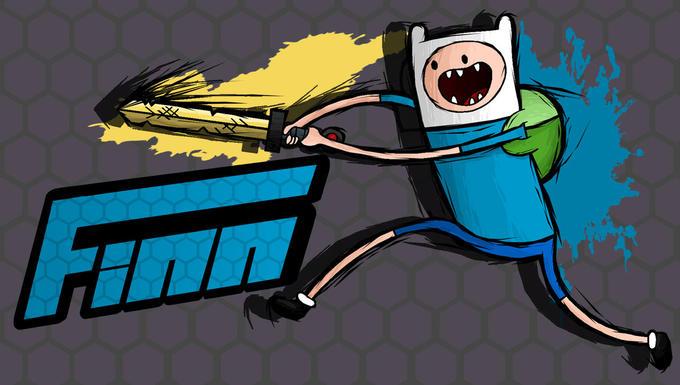 Finn Fighting is Magic Crossover Fan Art