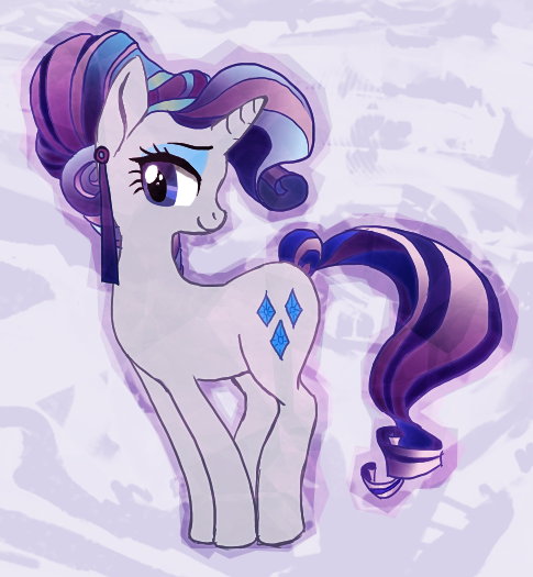 To calm you guys down about Equestria Girls, here's Rarity with an alternate hairstyle.