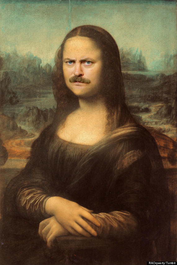 Ron Swanson Mona Lisa