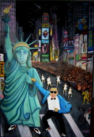 Psy at Time Square N Y