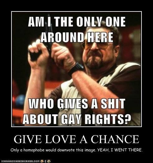 If you don't support gay rights, you're a douchebag