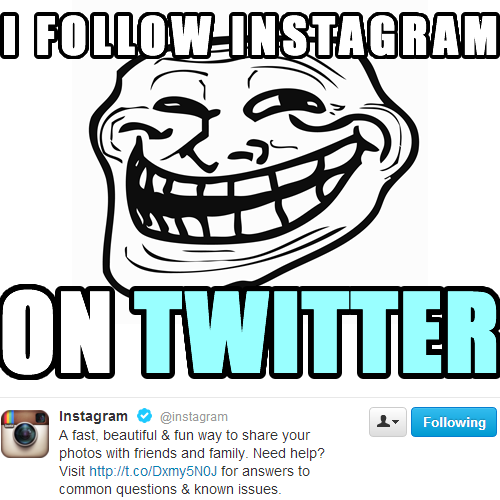 Instagram on Twitter