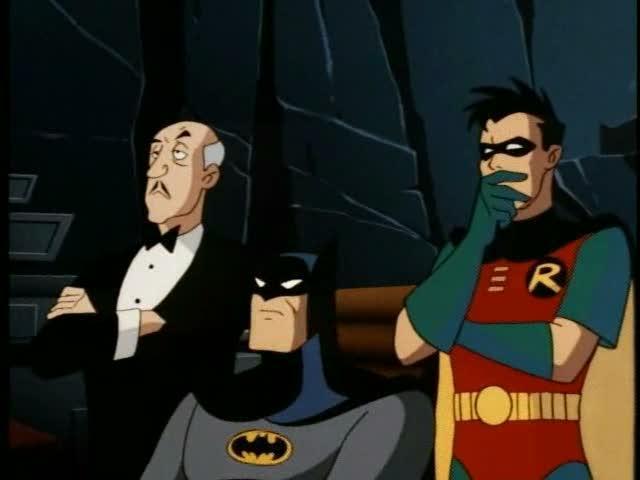 Batman and crew observing