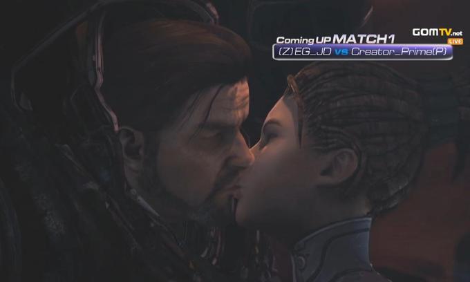 Raynor and Kerrigan Kissing