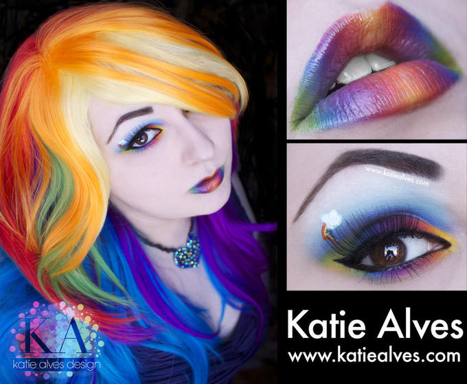 Rainbow Dash Makeup Design