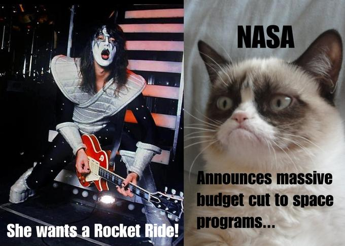 Grumpy cat meets Kiss-ace frehley